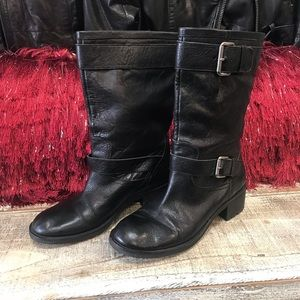 Franco Sarto Leather Mid Calf Boot